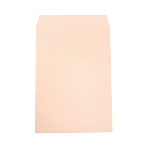 (まとめ) ハート 透けないカラー封筒ワンタッチテープ付 角2 100g/m2 パステルピンク XEP472 1パック(100枚) 【×5セット】【日時指定不可】
