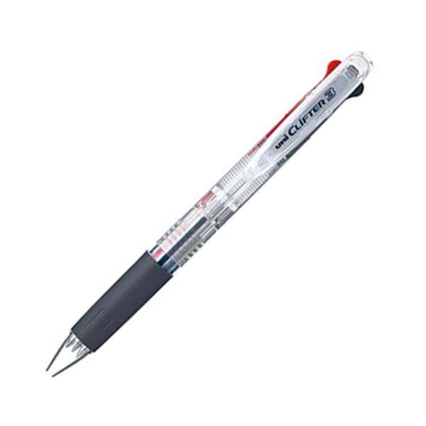 (まとめ) 三菱鉛筆 3色ボールペン クリフター0.7mm (軸色 透明) SE3304.T 1本 【×30セット】【日時指定不可】