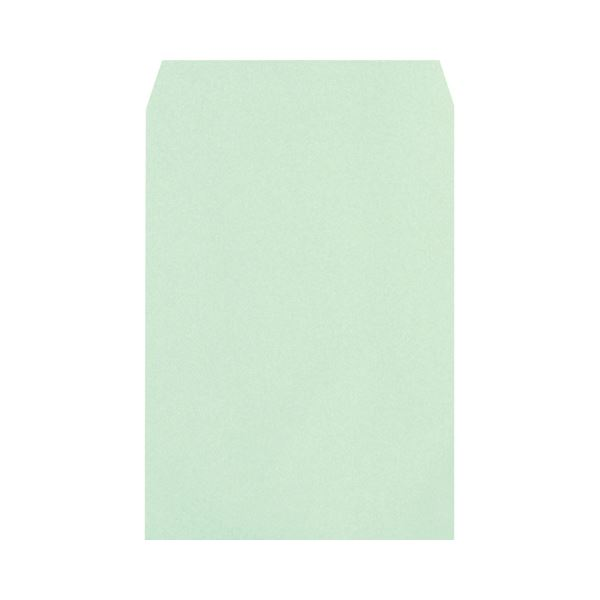 (まとめ) ハート 透けないカラー封筒ワンタッチテープ付 角2 100g/m2 パステルグリーン XEP470 1パック(100枚) 【×5セット】【日時指定不可】