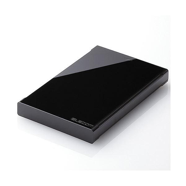 エレコムUSB3.0対応ポータブルハードディスク e:DISK 2TB ELP-CED020UBK 1台【日時指定不可】