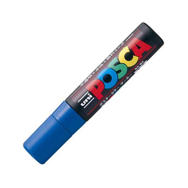 (まとめ) 三菱鉛筆 水性マーカー ポスカ 極太角芯 青 PC17K.33 1本 【×30セット】【日時指定不可】