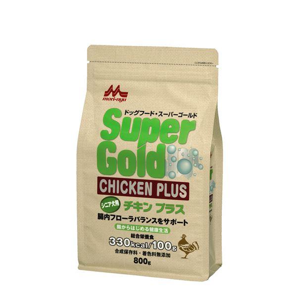 (まとめ)スーパーゴールド チキンプラス シニア犬用 800g【×12セット】【ペット用品・犬用フード】【日時指定不可】