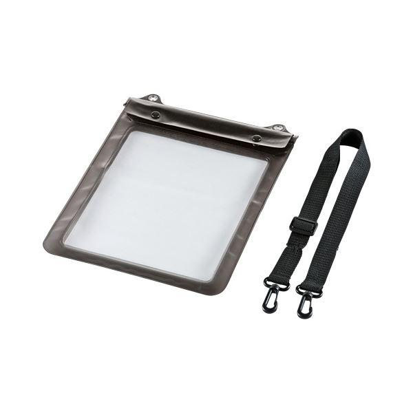 (まとめ)サンワサプライ タブレットPC防水ケース10.1型 ストラップ付 PDA-TABWP10 1個【×3セット】【日時指定不可】