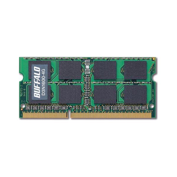(まとめ)バッファロー 法人向け PC3-12800 DDR3 1600MHz 240Pin SDRAM S.O.DIMM 4GB MV-D3N1600-4G 1枚【×3セット】【日時指定不可】
