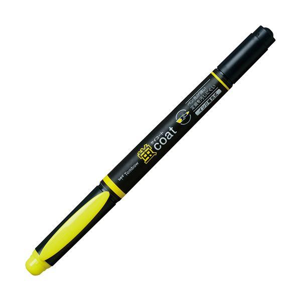 (まとめ) トンボ鉛筆 蛍コート ツインタイプきいろ WA-TC91 1本 【×100セット】【日時指定不可】