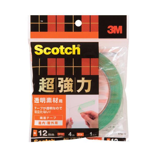 (まとめ)スリーエム ジャパン 超強力両面テープ透明素材用STD-12 12mm×4m【×30セット】【日時指定不可】