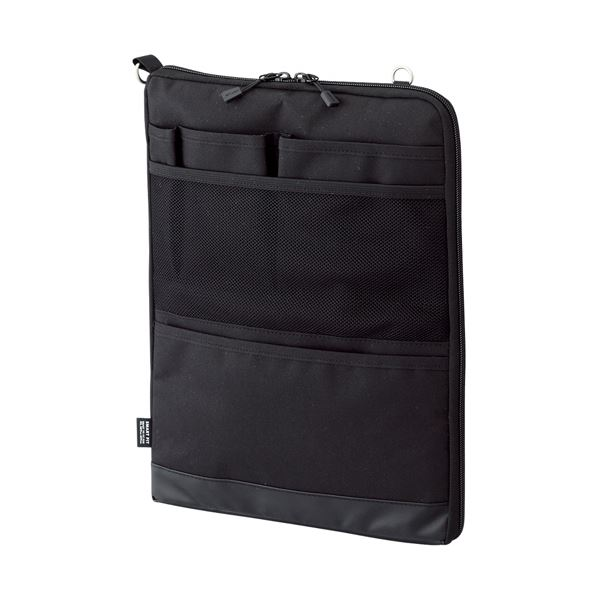 (まとめ) リヒトラブ SMART FITACTACT バッグインバッグ (タテ型) A4 ブラック A-7683-24 1個 【×10セット】【日時指定不可】