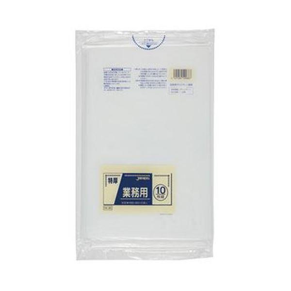 (まとめ)ジャパックス 特厚ゴミ袋 透明 80LDK-88 1パック(10枚)【×20セット】【日時指定不可】