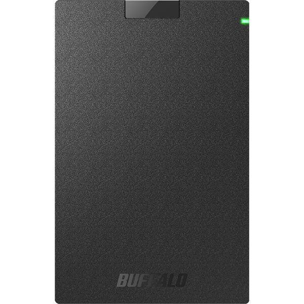 バッファロー USB3.2(Gen1)対応ポータブルHDD Type-Cケーブル付 2TB ブラック【日時指定不可】