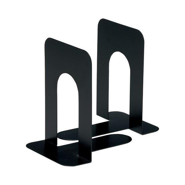 (まとめ) TANOSEE ブックエンド T型 大 ブラック 1組(2枚) 【×30セット】【日時指定不可】