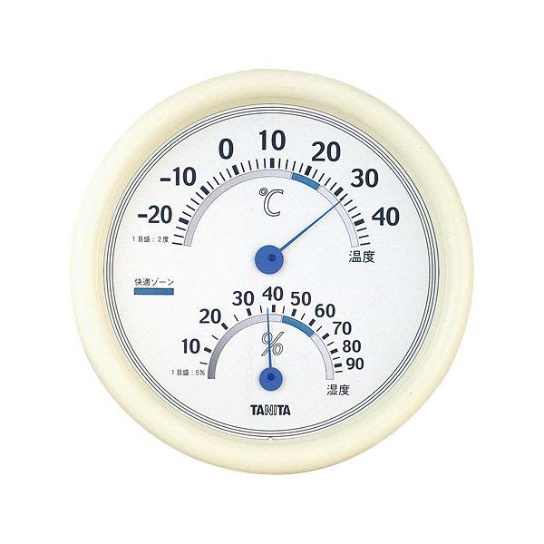(まとめ) タニタ 温湿度計 TT-513 ホワイト【×5セット】【日時指定不可】