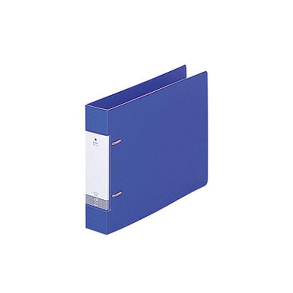(まとめ) リヒトラブ リクエスト D型リングファイル B5ヨコ 2穴 350枚収容 背幅46mm 青 G2235-8 1冊 【×30セット】【日時指定不可】