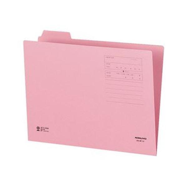 (まとめ)コクヨ 1/4カットフォルダー(カラー)A4 第1見出し ピンク A4-4F-1P 1セット(10冊)【×20セット】【日時指定不可】