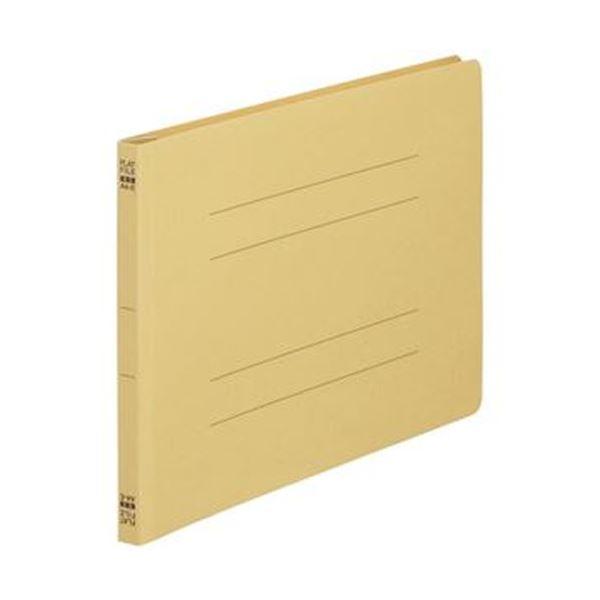 (まとめ)TANOSEE フラットファイル(ノンステープルタイプ)A4ヨコ 150枚収容 背幅18mm 黄 1パック(10冊)【×20セット】【日時指定不可】