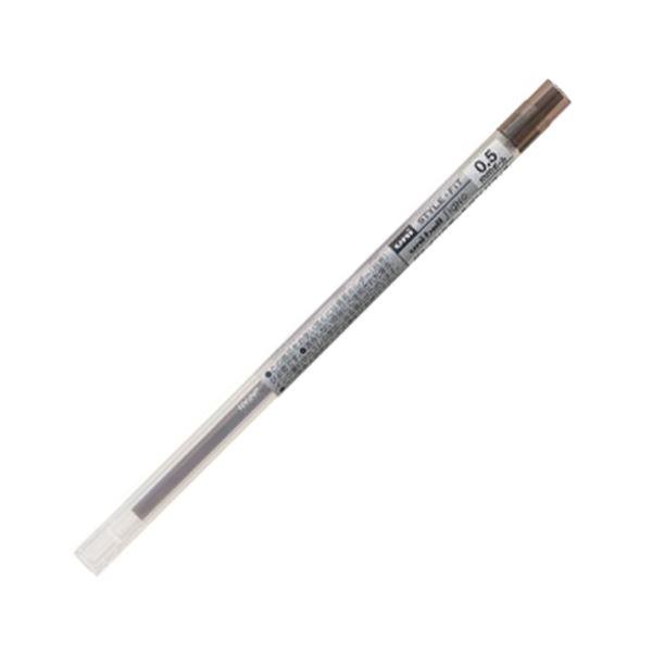 (まとめ) 三菱鉛筆 ゲルインクボールペンスタイルフィット 替芯 0.5mm ブラウンブラック UMR10905.22 1セット(10本) 【×10セット】【日時指定不可】