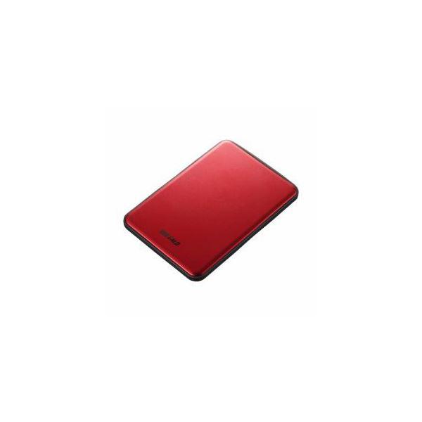 BUFFALO USB3.1(Gen1)/USB3.1 ポータブルHDD 2TB レッド HD-PUS2.0U3-RDD【日時指定不可】
