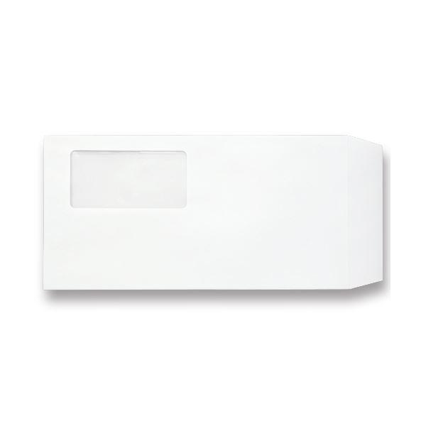 (まとめ) TANOSEE 窓付封筒 ワンタッチテープ付 長3 80g/m2 ホワイト 1パック(100枚) 【×10セット】【日時指定不可】