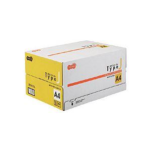 (まとめ) TANOSEE αエコペーパー タイプJA4 1箱(5000枚:500枚×10冊) 【×5セット】【日時指定不可】