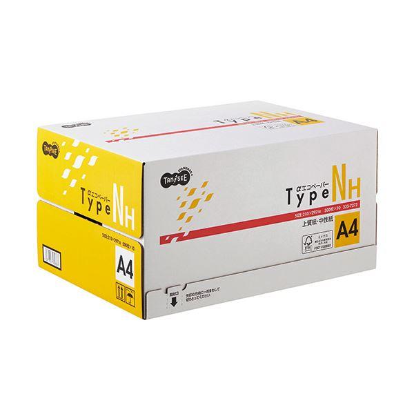 (まとめ) TANOSEE αエコペーパータイプNH A4 1箱(5000枚:500枚×10冊) 【×5セット】【日時指定不可】
