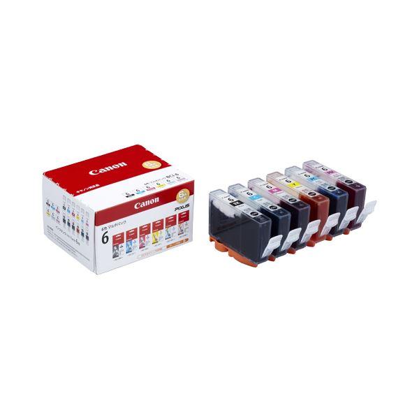 (まとめ) キヤノン Canon インクタンク BCI-6/6MP 6色マルチパック 1777B002 1箱(6個:各色1個) 【×10セット】【日時指定不可】