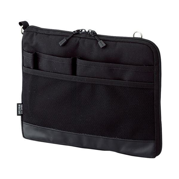 (まとめ) リヒトラブ SMART FITACTACT バッグインバッグ (ヨコ型) A5 ブラック A-7680-24 1個 【×10セット】【日時指定不可】