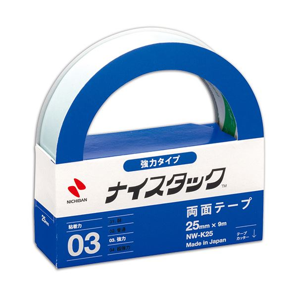 (まとめ) ニチバン ナイスタック 両面テープ 強力タイプ 大巻 25mm×9m NW-K25 1巻 【×30セット】【日時指定不可】