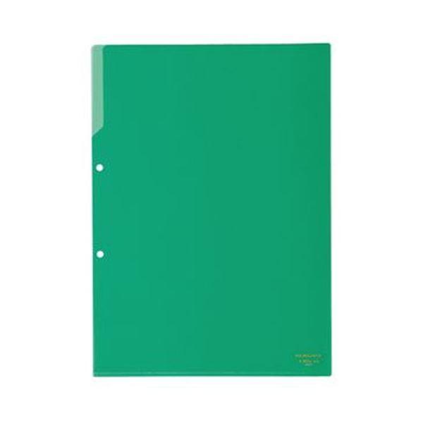 フ-750G 緑 1セット(50枚)【×3セット】【日時指定不可】 (まとめ)コクヨ クリヤーホルダー(2穴あき・カラー)A4