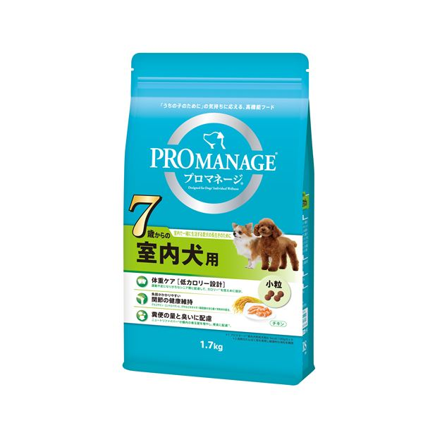 (まとめ)プロマネージ 7歳からの室内犬用 1.7kg (ペット用品・犬フード)【×6セット】【日時指定不可】
