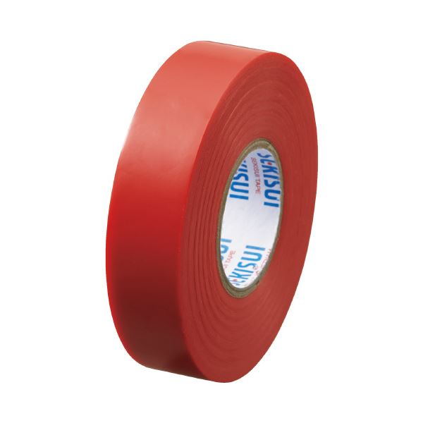 (まとめ)セキスイ エスロンテープ #360 19mm×20m 赤 V360R2N(×100セット)【日時指定不可】