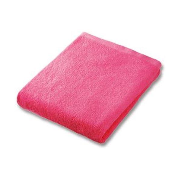 (まとめ)業務用スレンカラーバスタオル ピンク 1枚【×20セット】【日時指定不可】