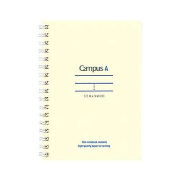 (まとめ)コクヨ キャンパスツインリングノート(ミニサイズ)A6 A罫 50枚 青 ス-T150A-B 1セット(10冊)【×10セット】【日時指定不可】