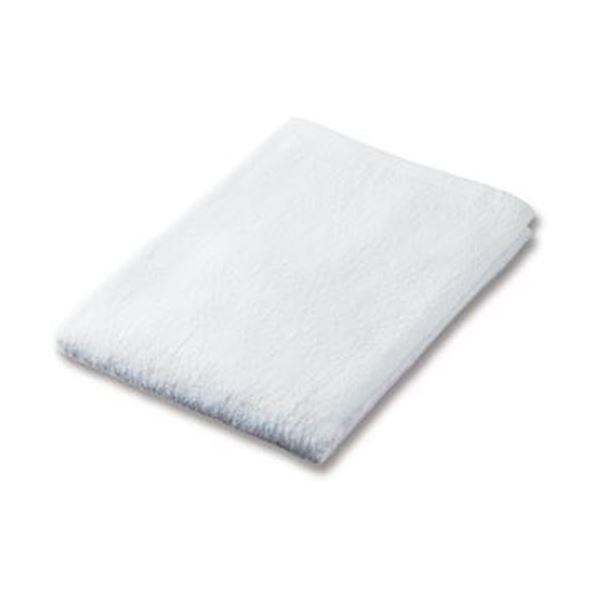(まとめ)業務用スレンカラーバスタオル ホワイト 1枚【×20セット】【日時指定不可】