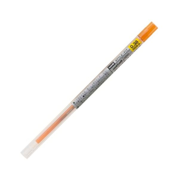 (まとめ) 三菱鉛筆 ゲルインクボールペンスタイルフィット 替芯 0.38mm オレンジ UMR10938.4 1セット(10本) 【×10セット】【日時指定不可】
