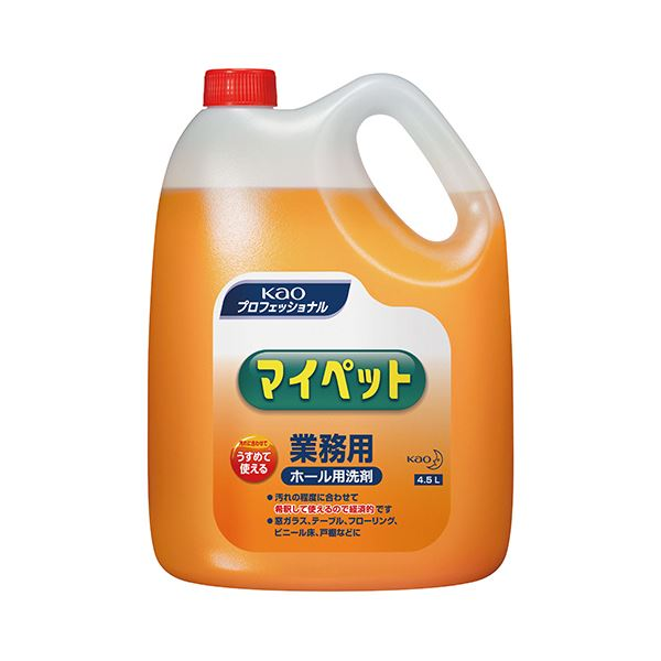 (まとめ) 花王 マイペット 業務用 4.5L 1本 【×10セット】【日時指定不可】