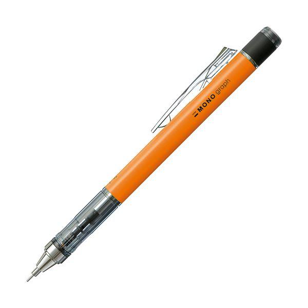 (まとめ) トンボ鉛筆 シャープペンシルモノグラフネオン 0.5mm (軸色:ネオンオレンジ) DPA-134D 1本 【×30セット】【日時指定不可】
