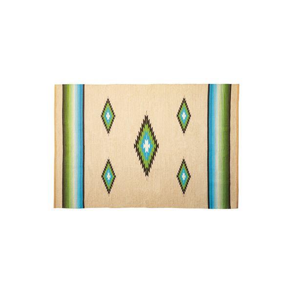モダン ラグマット/絨毯 【170×230cm TTR-166B】 長方形 綿 インド製 〔リビング ダイニング フロア 居間〕【日時指定不可】