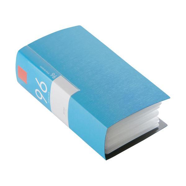 (まとめ) バッファローCD&DVDファイルケース ブックタイプ 96枚収納 ブルー BSCD01F96BL 1個 【×10セット】【日時指定不可】