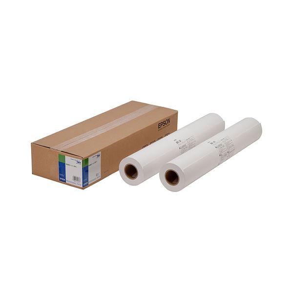 (まとめ)エプソン EPSON 普通紙(厚手) A2ロール 420mm×50m EPPP90A2 1箱(2本)【×3セット】【日時指定不可】