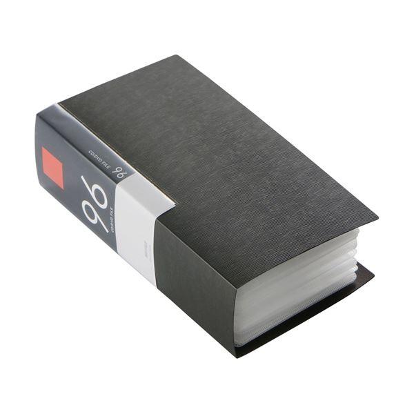 (まとめ) バッファローCD&DVDファイルケース ブックタイプ 96枚収納 ブラック BSCD01F96BK 1個 【×10セット】【日時指定不可】