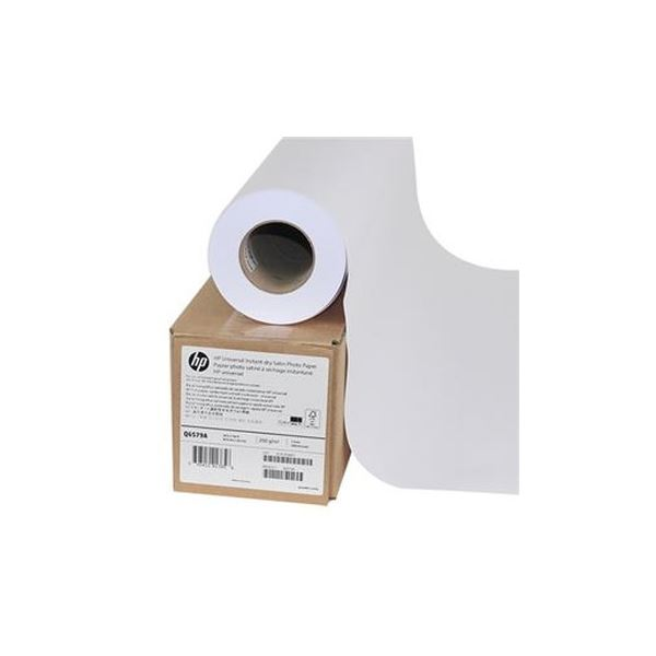 (まとめ)HP スタンダード速乾性半光沢フォト用紙24インチロール 610mm×30m Q6579A 1本【×3セット】【日時指定不可】