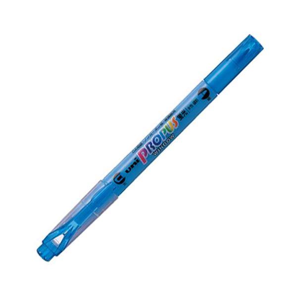 (まとめ) 三菱鉛筆 蛍光ペン プロパス・ウインドウスカイブルー PUS102T.48 1本 【×100セット】【日時指定不可】