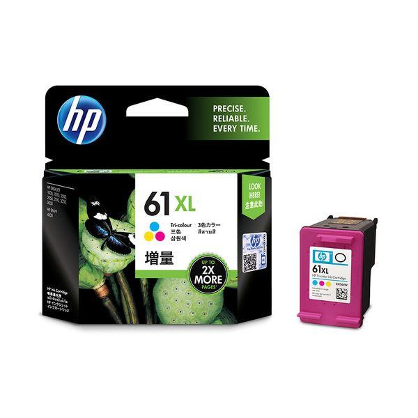 (まとめ) HP HP61XL インクカートリッジカラー 増量 CH564WA 1個 【×5セット】【日時指定不可】