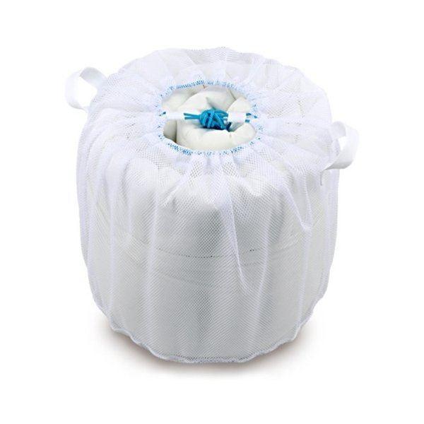 (まとめ) 大型 洗濯ネット/洗濯用品 【寝具用】 直径45×高さ40cm 巾着タイプ 【×80個セット】【日時指定不可】
