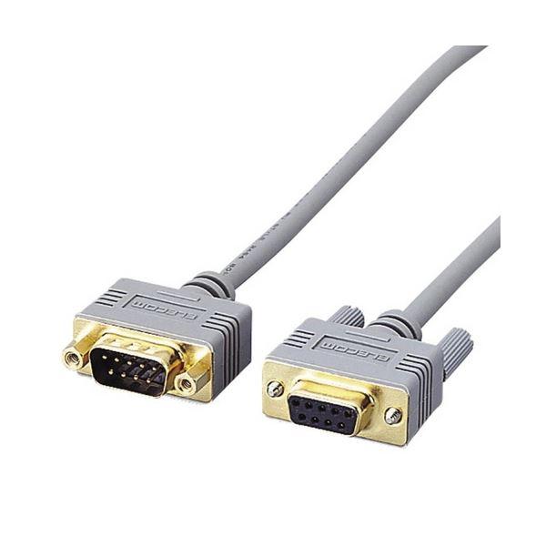 (まとめ) エレコム RS-232C延長ケーブルD-Sub9pinメス-オス 1.5m C232N-E9 1本 【×10セット】【日時指定不可】