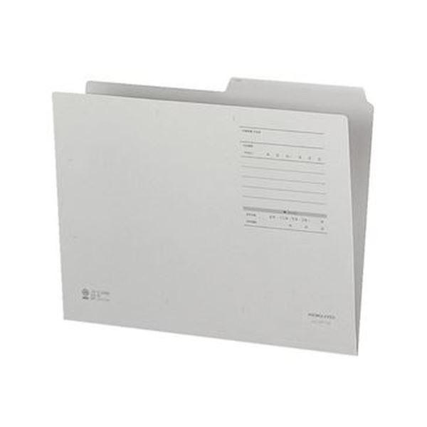 (まとめ)コクヨ 1/2カットフォルダー(カラー・Fタイプ)A4 グレー A4-2FF-M 1セット(10冊)【×20セット】【日時指定不可】