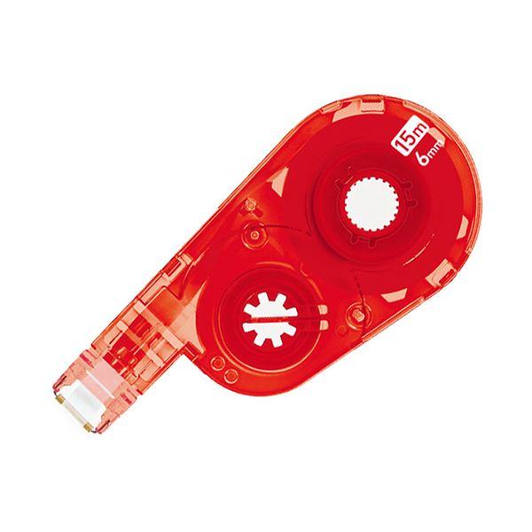 (まとめ) プラス 修正テープホワイパースイッチ交換テープ 6mm レッド WH-1516R-10P 1パック(10個) 【×5セット】【日時指定不可】