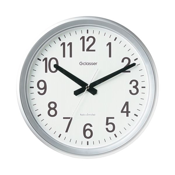 (まとめ) キングジム キングジム 電波掛時計 GDK-003【×3セット】【日時指定不可】