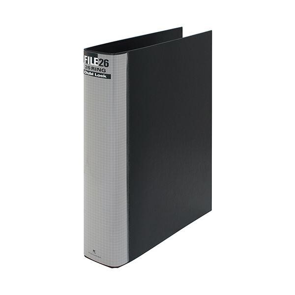 (まとめ) マルマン ダブロックファイル B5タテ 26穴 250枚収容 背幅44mm ブラック F679R-05 1冊 【×10セット】【日時指定不可】