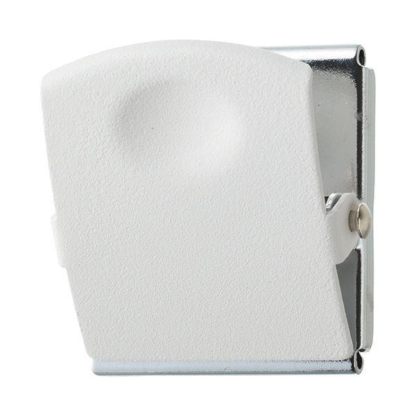 (まとめ) TANOSEE 超強力マグネットクリップL ホワイト 1個 【×30セット】【日時指定不可】