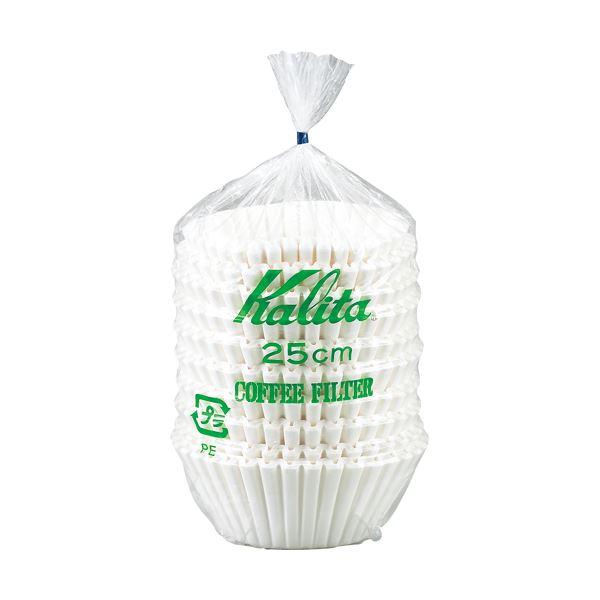 (まとめ) カリタ 立ロシ コーヒーフィルター 25cm 1セット(500枚:250枚×2パック) 【×5セット】【日時指定不可】